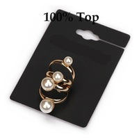 Min Order 9$! Multilayer Fashion Imitation Pearl Ring Jewelry for Girls