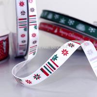 "Hot Wholesale Free Shipping 3/8"" 9MM Width 100 yards Christmas Ribbon Printed Ribbon Birthday Party Wedding Festival Decorations"