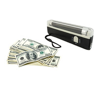 Portable ultra violet black light lamp  torch UV Blacklight Bank Note Checker currency money detector
