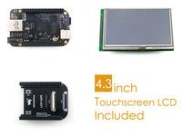 BeagleBone Black Rev C Development Board Kit 512MB DDR3 4GB 8bit eMMC 1GHz ARM Cortex-A8 +4.3inch LCD Screen + LCD Cape + Cables