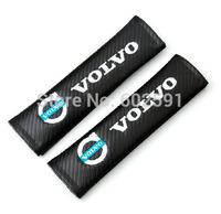 2pcs Black Car Carbon Fiber Seat Belt Shoulders Pad Truck Cover VOLVO V40 V60 S60 S80 XC60 XC90