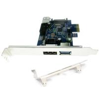 USB3.0 Power over eSATA PCI express Card PCIe eSATAp + 9pin USB header combo port card + low profile bracket