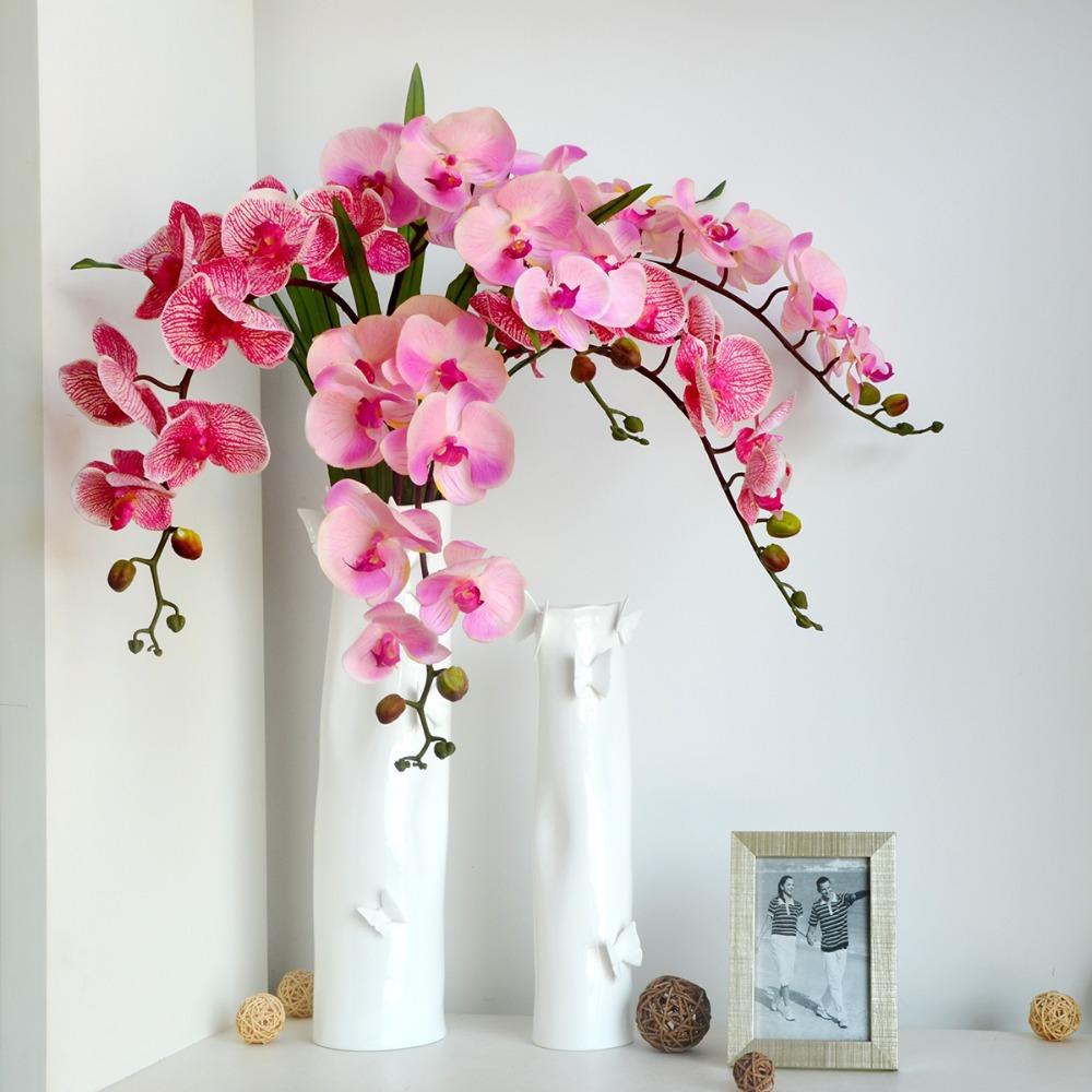 Single simulation colors silk butterfly orchid artificial font b flower b font head font b arranging