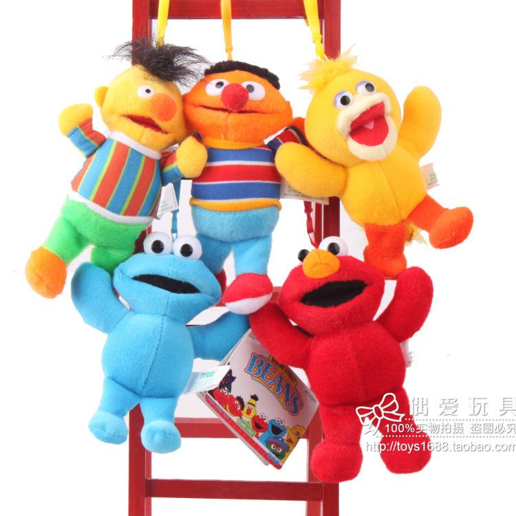 Sesame Street plush doll toys Elmo Dolls pendant Toys 13 cm 5 pcs/set Stuffed Plush collection Toys(China (Mainland))