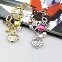 WH008 New Lady LOVE Diamond Bracelet Style Wrist Quartz Analog Watch 86001
