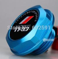 Car Styling Accessorie Aluminium Oil cap Fuel Tank Cap Cover Blue TRD Fit For Most TOYOTA Model