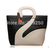 2014 new elegant handbag personality White Swan portable / diagonal package