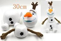 Detachable Frozen Olaf baby Girls plush Stuffed Toys Animals Snowman Kristoff Anna Elsa friend