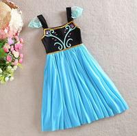 BB060 Free shipping new 2014 childrens dress summer girl dress costume princess elsa dress from frozen baby grils dress retail
