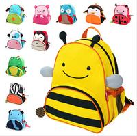 Cute Cartoon Baby Bag Children's Fashion Backpacks Cute Kids Lunch Backpack Eagle Monkey Zoo Animal Canvas School bag DGTB0001