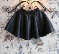 Free Shipping NEW 1PC/LOT Kids Children Girl PU Skirt Fashion Winter Autumn Cool Baby Skirts Gift