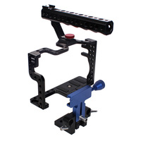 DSLR Camera  Bracket, Top Handle Cage with Quick Release Tripod Baseplate & 15mm Rod Clamp for Panasonic Lumix GH3 GH4 Camera