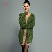 2014 Autumn Women Knitwear Cardigans High Quality Pure Color Fashion Cardigans Desigaul Coat