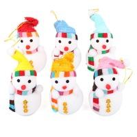 6cm X 10cm Xmas Popular Snowmen Tree Hanging Decoration Home Party Ornaments Festical DIY Novelty 24 PCS/Lot Drop Ship