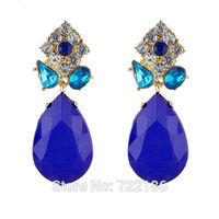 Brincos Femininos New Fashion Jewelry Imitation Gemstone Clip Earrings For Women Accessories