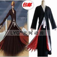 BLEACH cosplay clothes The black battery ichigo COS clothing All solution cloak Black battery ichigo swastika cloak robes