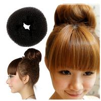 Hot Selling Lady Hair Styling Decorations Tool 1x Soft Magic Black Bun Sponge Donut Shape Hair Styler Accessories DGFS2002