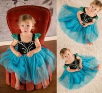 Frozen Baby Girls Dresses cute Anna ball gown kids' one-piece tank dress robe 5pcs/lot T70