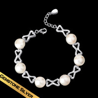 Special Winter New Arrival Style Bracelet & Bangle S925 Silver Natural Pearl Free Shipping Gifts For Girls Women SL141123