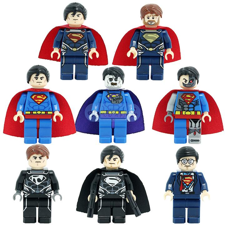 SY 187 8pcs/lot Super Heroes Star Wars Alliance 8 design superman minifigures DIY construction brick block sets,Kids toys(China (Mainland))
