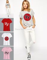 Women Fashion T Shirt Foo Fighters T-Shirt brand Glamor Best Rock Album loose sitcoms female women woman sports T shirts