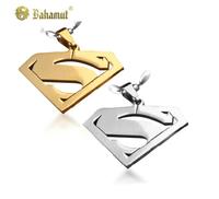 Bahamut titanium steel jewelry  fashion Superman Pendants couple's Necklace Free shipping