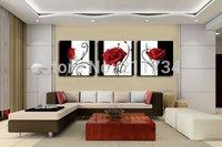 3 league Handpainted  tree wall oil painting .wall decor on canvas16x16inchx3(40x40cmx3)