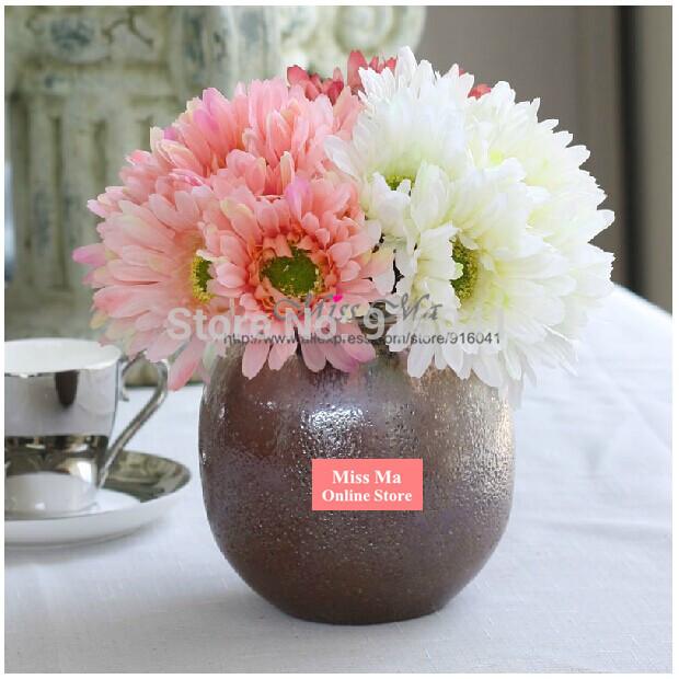 Nouveau 20pcs/lot fleur de marguerite mini bouquets de mariage fleur artificielle fleur partie faux cause, décoration de table de fleurs livraison gratuite