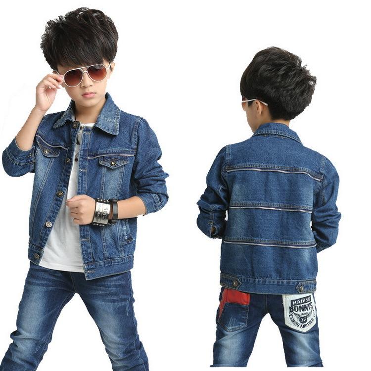 2015 NEW autumn boys denim jackets, Children thermal jean coats, Brand fashion trench kids chaqueta proof wind, HC144(China (Mainland))