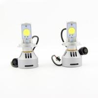 2 pcs/set Super Bright 6400 Lumen H4 Hb2 LED Headlight Cree SMD 6500k White Hi-low Beam