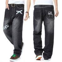 Plus size plus size jeans casual jeans male skateboard loose pants hiphop jeans hiphop male