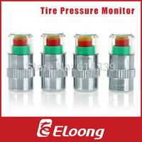 Eloong 1 Set 4pcs  Mini 2.4Bar 36PSI Car Tyre Tire Pressure Monitor Indicator Valve Stem Cap Sensor 3 Color Eye Alert  P070