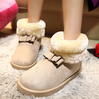 Winter Snow Boot Women Fashion Man-Made Fur Buckle Motorcycle Ankle Boots Shoe   xx88