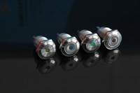Free shipping16mm metal button /Resettable / light / water / high life/auto switch /single point of light-emitting illuminated