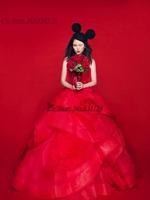 Cii 2015 new red bra qi floor length pregnant women customize bridal wedding gown Korean version fashion bandage bridal dress