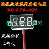 Micro 0.36 inch digital 2.7V-32V precision digital-display digital Voltmeter 2.7v to 32v LED ( green )  0034