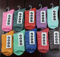 Female socks coarse needle socks tide female special tube socks Autumn and winter socks