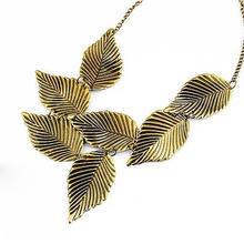 New Vintage Bohemia Leaf Pendant Choker Fashion Statement Collar Necklaces Wholesale Jewelry