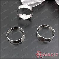 (28850)Diy Jewelry Accessories,inside 18MM,paste size 8MM Imitation Rhodium Iron Rings 50PCS