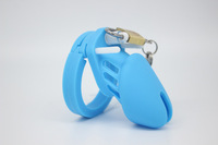 silicone penis Lock Male Chastity device Steel Cock Cage Men Chastity Belt Penis ring Sex Toys sex products