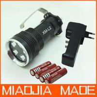 5x CREE XM-L2 T6 LED Flashlight Torch Spotlight Searchlight 7000Lm+4* 4200mAh 18650 Battery+Charger