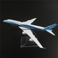 16cm Alloy Metal Prototype Boeing 747 400 B747 Airlines ProtoMech Development Aircraft Airplane Model Plane Model W Stand Toy