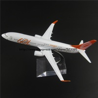 16cm Alloy Metal Brazil AIR GOL Airlines Boeing 737 B737 800 Airways Airplane Model Plane Model W Stand Aircraft Toy Gift