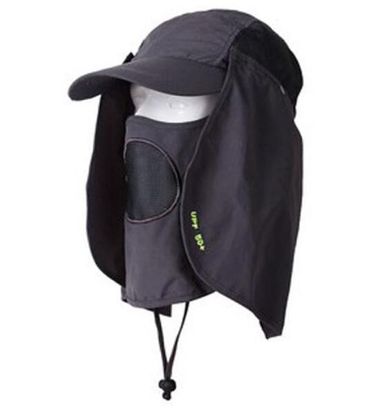 Practical UV Blocking Outdoor Hats Neck Flaps Sunscreen Hunting Hat Ladies Sun Protective Headwear Hiking Cap Mens Camping Cap(China (Mainland))