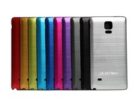 10pcs lot Ultrathin slim Brushed Aluminum colorful metal Battery Cover phone cases case housing For Samsung Galaxy Note4