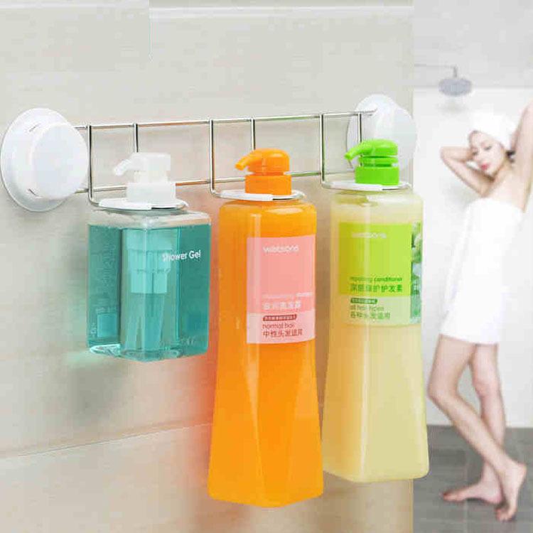 Estantes De Acero Para Baño:Baño de acero inoxidable estante para champú y gel de ducha botella