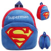 Free shipping cartoon anime superman cute plush backpacks school outdoor bag kids children kindergarten baby toy gift 1pc