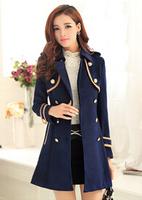 fourrure 2014 Winter new Korean version of Slim thin elegant woolen coat