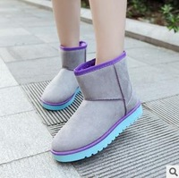best selling 2014 winter female boots short tube explosion leather graffiti boots 001