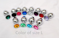 1pc large size Stainless Steel Butt Plug Metal Anal plug But Booty Beads